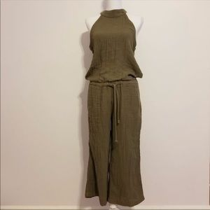 Cloth & Stone Anthropologie Green Jumpsuit nwot LG